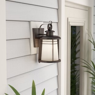 Best Price Morton 1-Light Outdoor Wall Lantern By Beachcrest Home