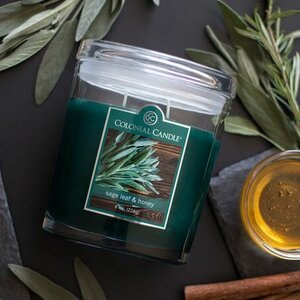 Sage Leaf and Honey Oval Scented Jar Candle