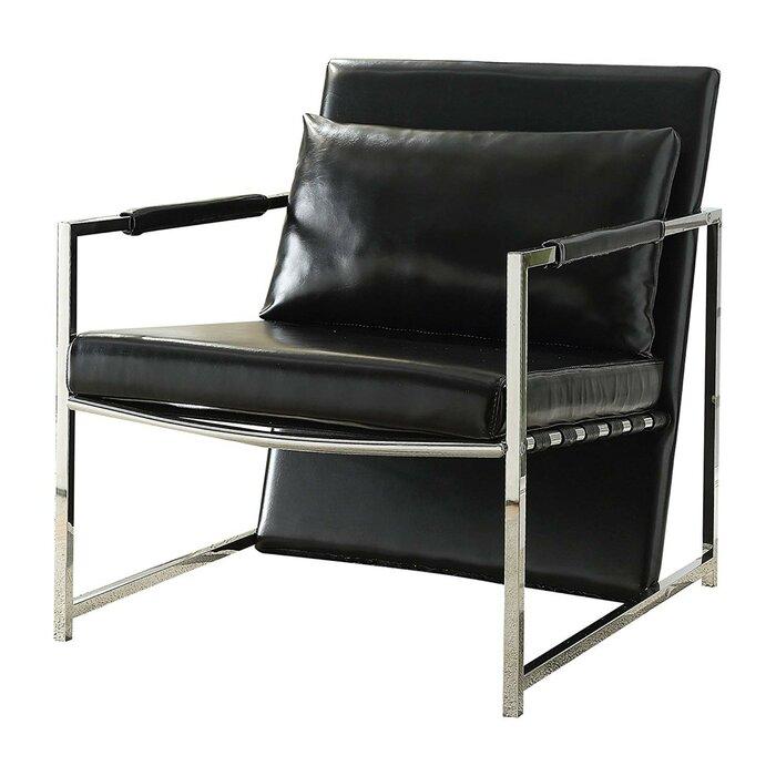 Phenomenal Siebert Polyurethane Upholstered Metal Armchair Bralicious Painted Fabric Chair Ideas Braliciousco