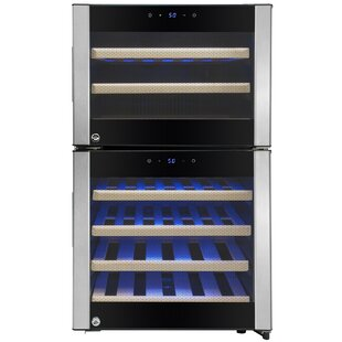 AKDY 45 Bottle Dual Zone Built-In Wine Cooler