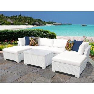 TK Classics Monaco 7 Piece Sectional Set with Cushions