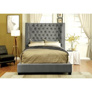 Willa Arlo Interiors Steph Flannelette Fabric Upholstered Panel Bed