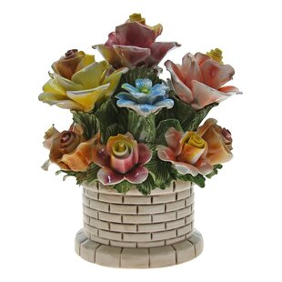 Round Brick Flower Bouquet in Pot