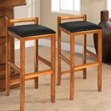 Massicotte Acacia Wood Chair 28.5 Bar Stool (Set of 2) by Wrought Studio™
