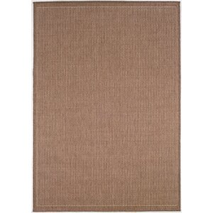 Westlund Saddle Stitch Cocoa Indoor/Outdoor Area Rug