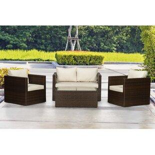Terhagen 4 Seater Rattan Sofa Set By Sol 72 Outdoor