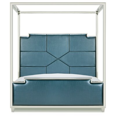 Everly Quinn Westford Upholstered Canopy Bed