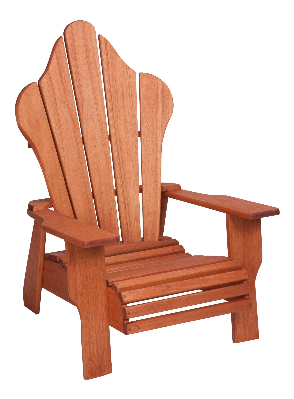 Hinkle Chair Company Red Grandis Solid Wood Adirondack Chair | Wayfair