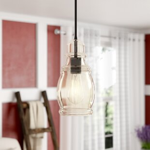 Pruett 1-Light Bell Pendant by Gracie Oaks