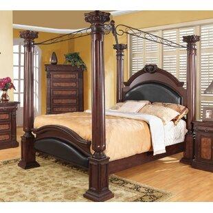Noemi Solid Wood Canopy Bed by Fleur De Lis Living