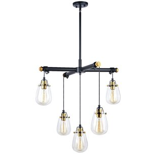 Williston Forge Haag 5-Light Shaded Chandelier