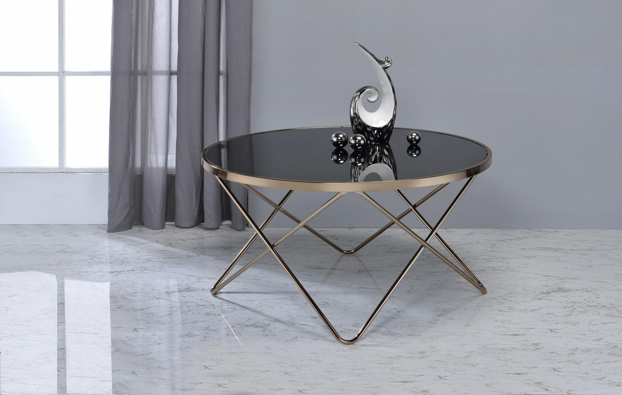 Astounding Smyrna Contemporary Round Living Room Coffee Table Bralicious Painted Fabric Chair Ideas Braliciousco