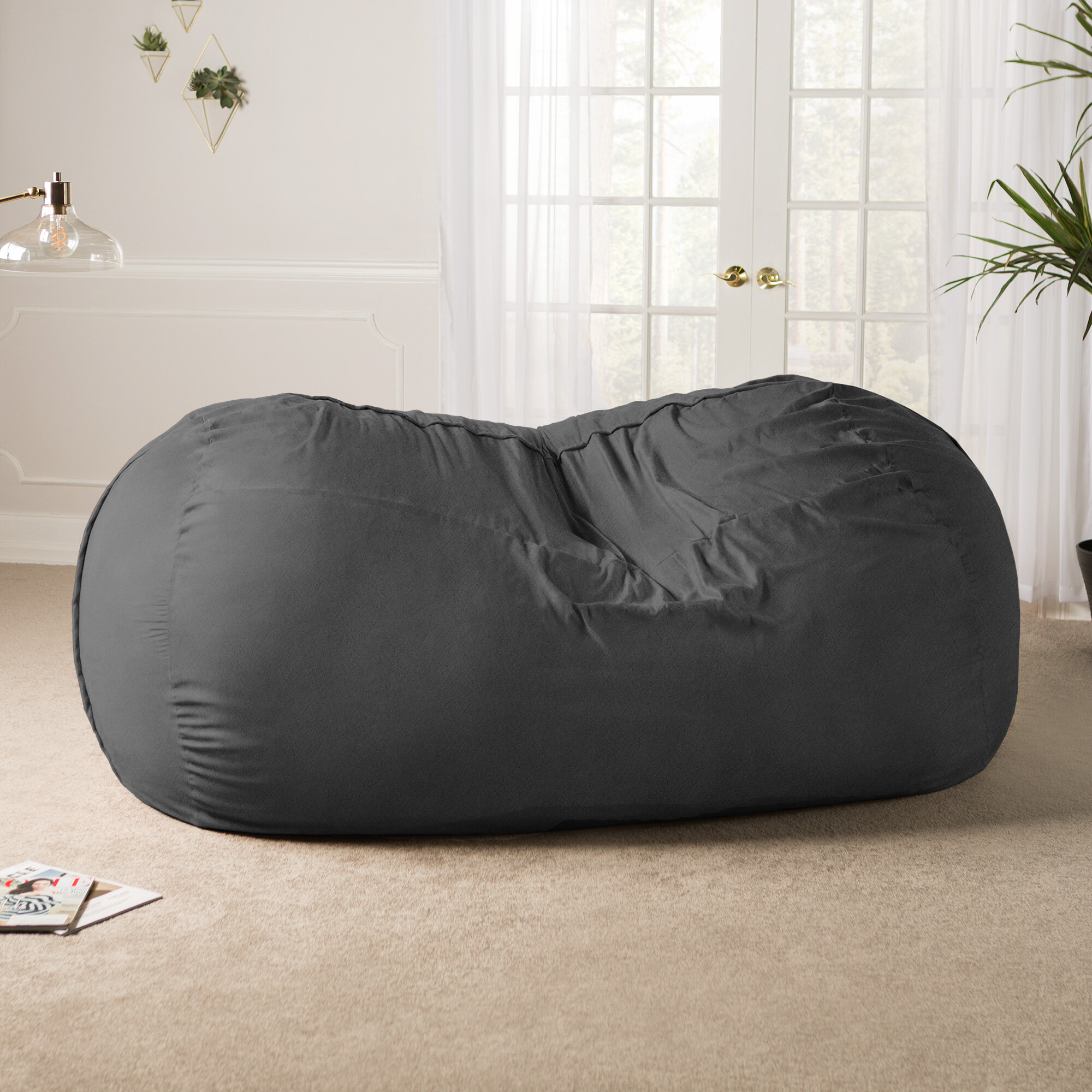 Awe Inspiring Giant Bean Bag Sofa Caraccident5 Cool Chair Designs And Ideas Caraccident5Info