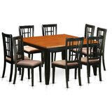 Pilcher 9 - Piece Butterfly Leafv Rubber Solid Wood Dining Set by August Grove®