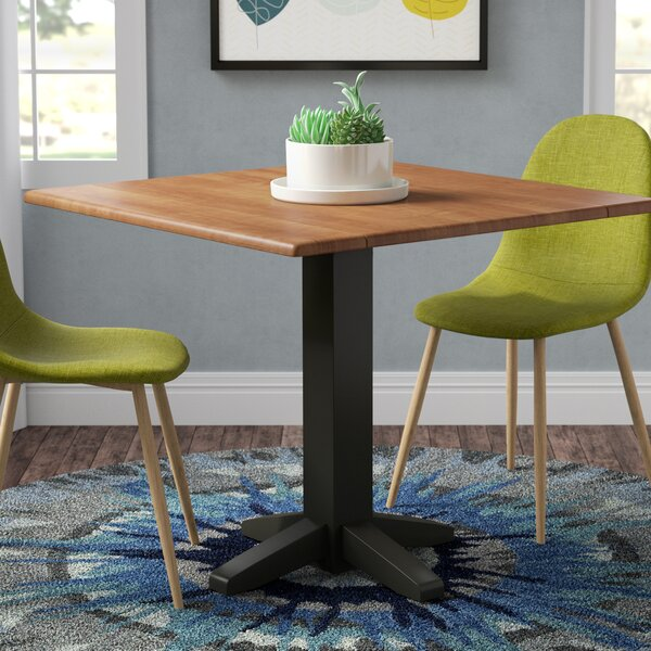 Runkle Square Dual Drop Leaf Solid Wood Dining Table