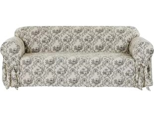 Toile Print Box Cushion Sofa Slipcover