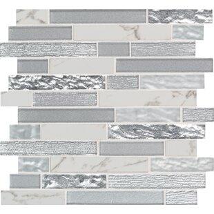 Whistler Ice Random Sized Glass/Porcelain Mosaic Tile in Gray