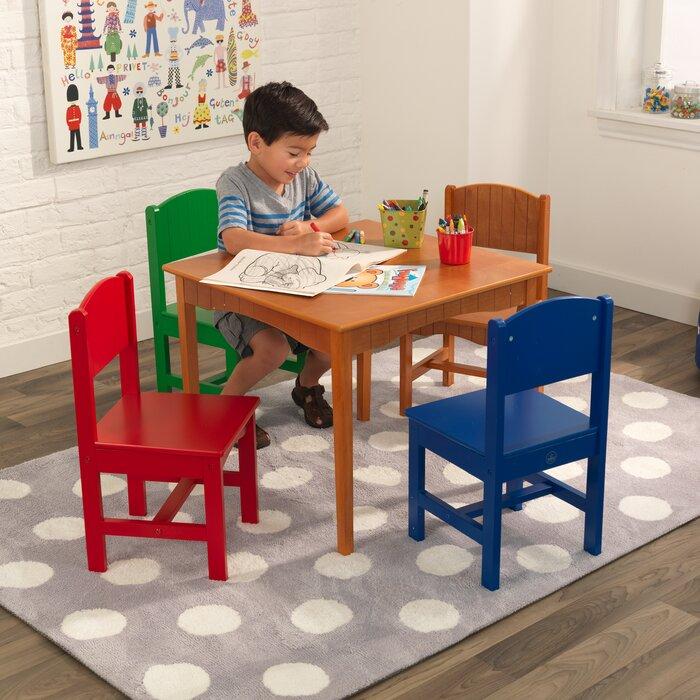 Nantucket Kids 5 Piece Writing Table Chair Set