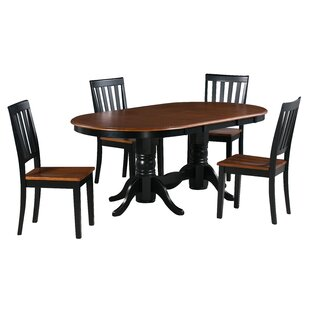 Kent 5 Piece Extendable Solid Wood Dining Set