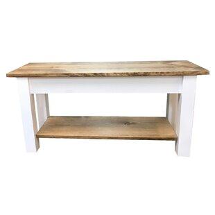 bench with shelf. Ambler Wood Bench With Shelf