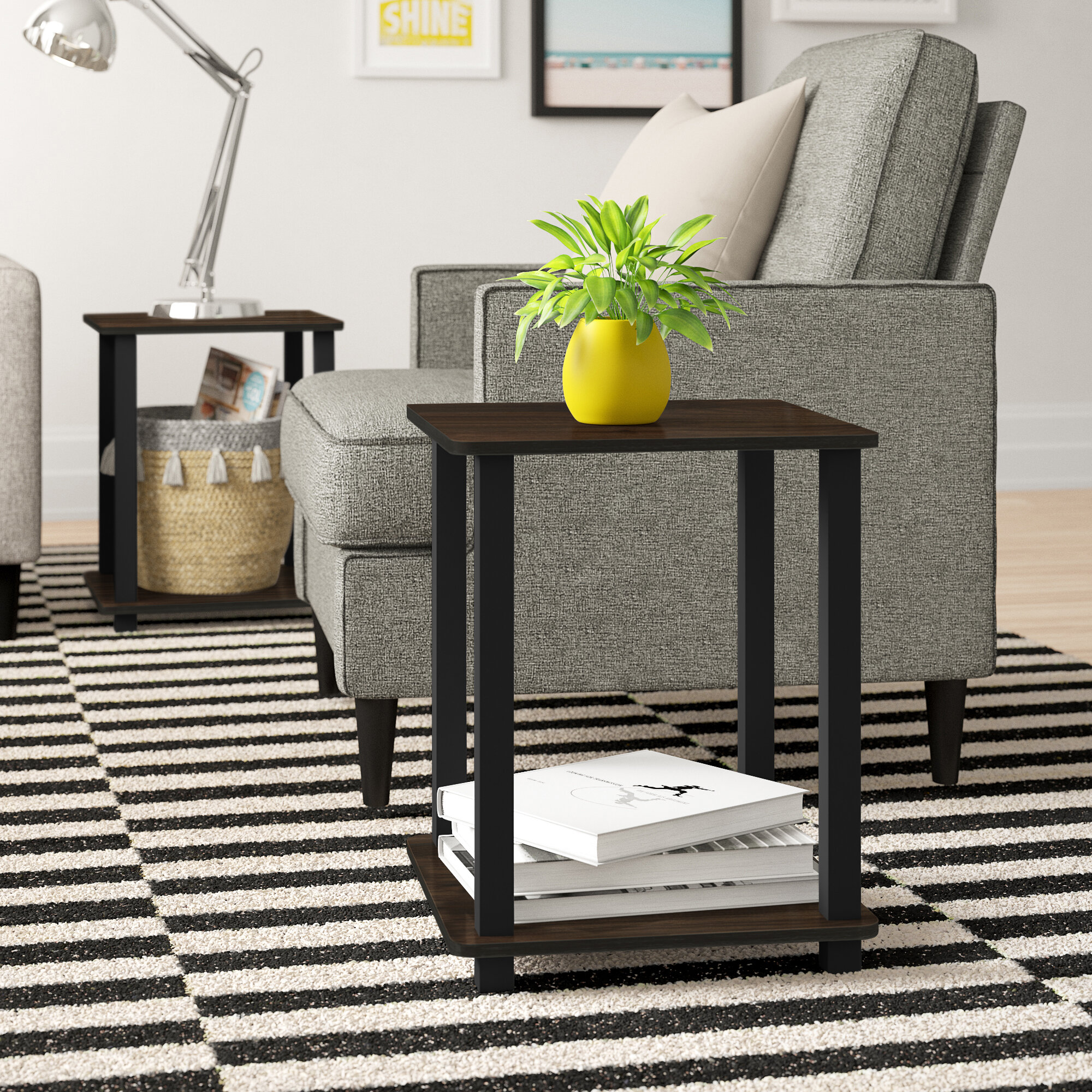 Zipcode Design Annie End Table Set With Storage Reviews Wayfair