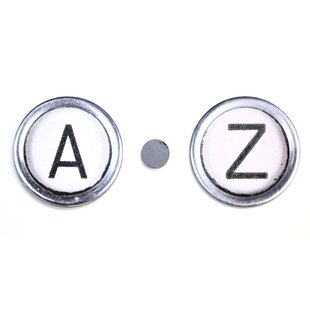 Hand Painted Typewriter Key Letter Wall Decor by Letter2Word