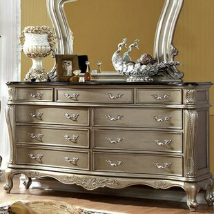 Borman 9 Drawer Dresser with Mirror