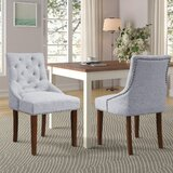 Filer Tufted Parsons Chair in Gray (Set of 6) by One Allium Way®