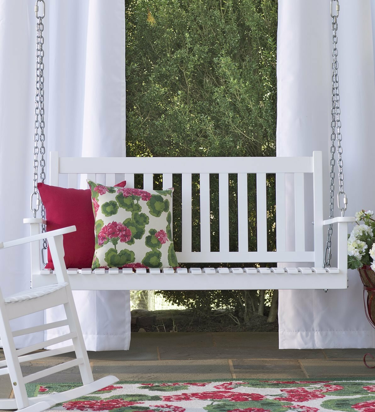 Plow u0026 Hearth Slatted Eucalyptus Porch