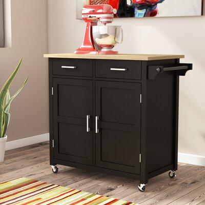 Moorman Kitchen Cart Ebern Designs Base Finish: Black