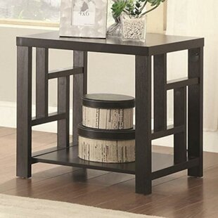 Davida Contemporary Solid Wooden End Table by Wrought Studio