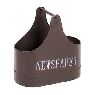 Edgar Newspaper Basket By Williston Forge