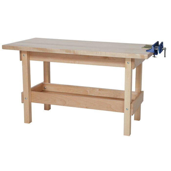 Swell 44W Wood Top Workbench Pabps2019 Chair Design Images Pabps2019Com