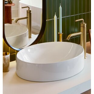 Comparison Vox Vitreous China Oval Vessel Bathroom Sink with Overflow By Kohler