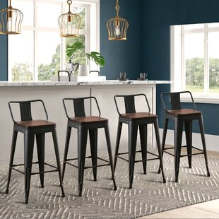 Saleh Solid Wood Bar and Counter Stool (Set of 4)