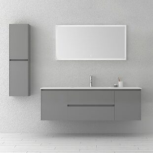 Bakonyi 63 Wall-Mounted Single Bathroom Vanity Set by Orren Ellis