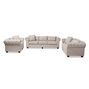 Smythe 3 Piece Living Room Set by Rosdorf Park