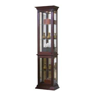 Maywood Lighted Curio Cabinet