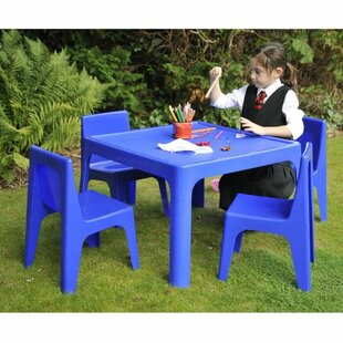 Marley Children's 5 Piece Square Table And Chair Set By Isabelle & Max