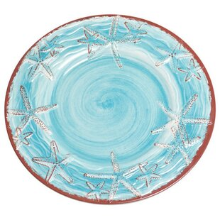 Starfish Melamine 9\  Salad/Dessert Plate (Set of 4)  sc 1 st  Wayfair & Starfish Melamine Plates | Wayfair