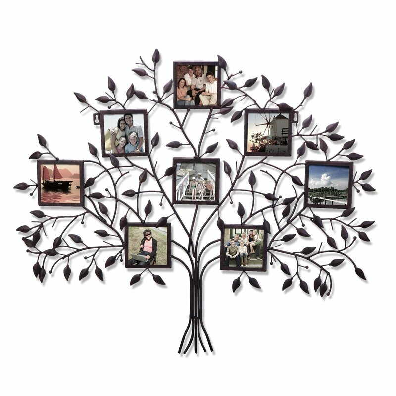8 Opening Decorative Family Tree Wall Hanging Collage Picture Frame ...