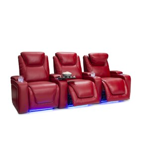 Leather Home Theater Row Seating (Row of 3) ByLatitude Run