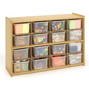 Read Reviews Value Line 16 Compartment Cubby with Trays ByAngeles