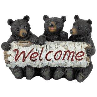 Black Bear Cubs Welcome Figurine
