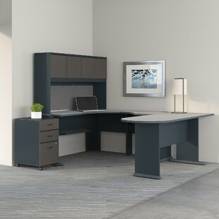 Bush Business Furniture Series A Corner 3 Piece U-Shaped Desk Office Suite