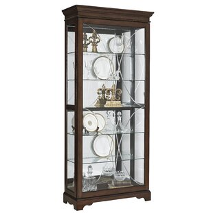Darby Home Co Blake Etched Lighted Curio Cabinet