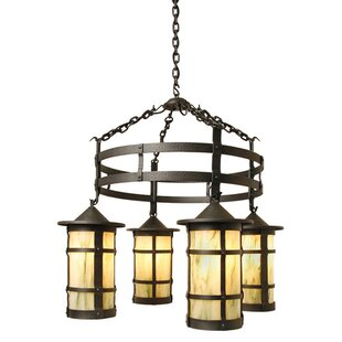 Steel Partners San Carlos 4-Light Shaded Chandelier