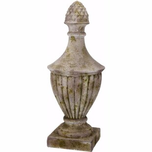 Darby Home Co Ebert Attractive Magnesia Finial Statue