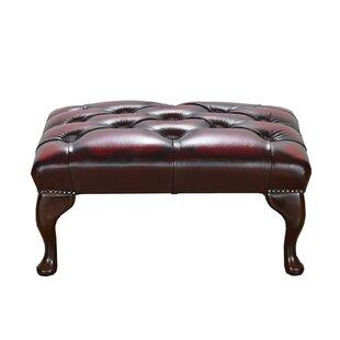 Mojokerto Leather Footstool By Rosalind Wheeler