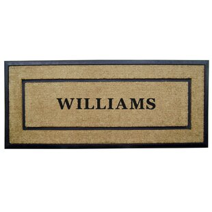Damron Frame Coir Personalized Doormat by Winston Porter